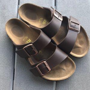 Birkenstock Arizona sandals size 39 brown mocha